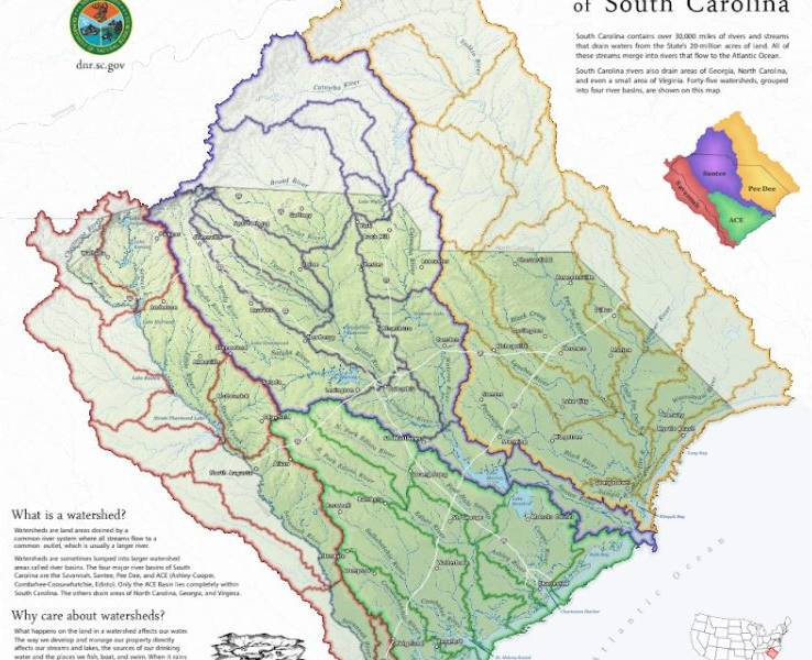 Watersheds map home image.